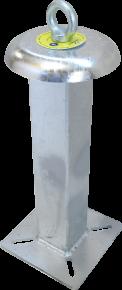 Potelet point d'ancrage tube carré